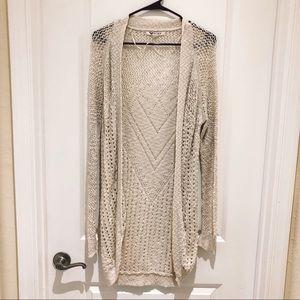 Roxy Knit Open Cream Cardigan Medium